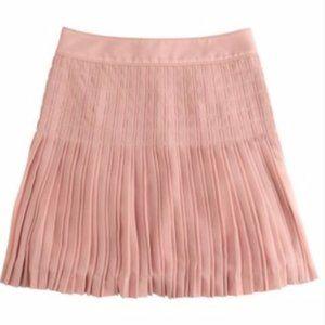 J.Crew Pink Pleated Lattice Skirt